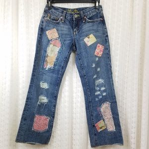 Miss Me Patchwork JP4145 Cropped Jeans